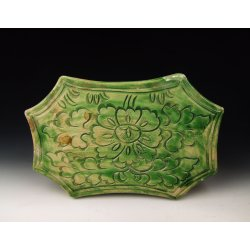 Song Dynasty Green Glazed Pottery Pillow