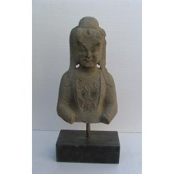 Northern Wei Dynasty Carved Stone Buddha Bust